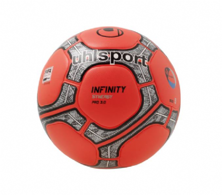 Infinity Synergy Pro 3.0 Fluo Red / Silver / Black (Size 5) Match Ball